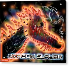 Dragon Slayer Acrylic Print by Cheri Doyle