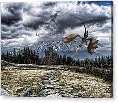 Dragon Trail. Acrylic Print by Anastasia Michaels