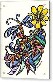 Dragonflies 2009 Acrylic Print