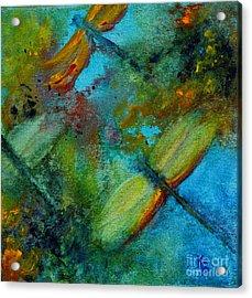 Dragonflies Acrylic Print by Karen Fleschler