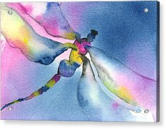 Dragonfly Blues Acrylic Print by Gladys Folkers