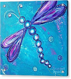 Dragonfly Bubble Art Acrylic Print
