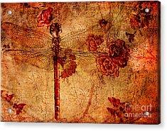 Dragonfly - Geisha Style Acrylic Print