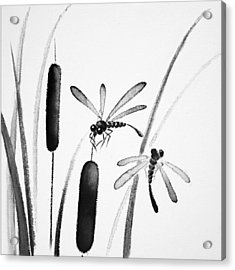 Dragonfly Serenity Acrylic Print by Oiyee At Oystudio