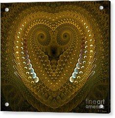 Dragonheart Acrylic Print by Sandra Bauser Digital Art
