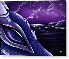 Dragons Of Amethyst Coast Acrylic Print by Elaina  Wagner