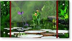 Dragons On The Pond Acrylic Print