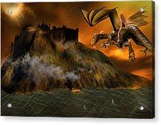 Dragons Return To Lost Island Acrylic Print by Emma Alvarez