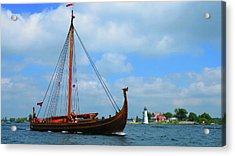 The Draken Passing Rock Island Acrylic Print
