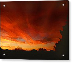 Drama At Sunrise Acrylic Print