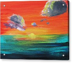 Acrylic Print featuring the painting Drama In The Skies by Trilby Cole