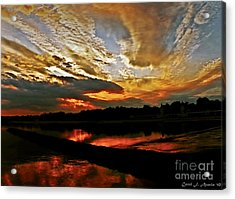 Drama In The Sky At The Sunset Hour Acrylic Print by Carol F Austin