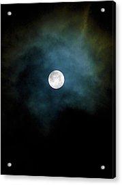 Acrylic Print featuring the photograph Drama Queen Full Moon by Menega Sabidussi