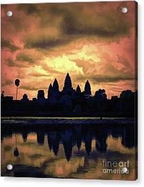 Dramatic Angkor Wat  Acrylic Print
