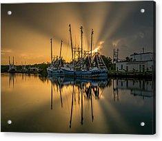 Dramatic Bayou Sunset Acrylic Print
