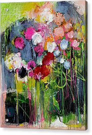 Dramatic Blooms Acrylic Print by Nicole Slater