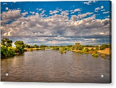 Dramatic Clouds And Kern River Acrylic Print