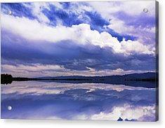 Dramatic Clouds Of A Coming Storm Acrylic Print by Daphne Sampson