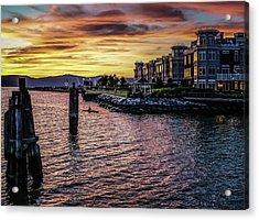 Dramatic Hudson River Sunset Acrylic Print by Jeffrey Friedkin
