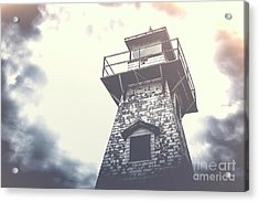 Dramatic Lighthouse Acrylic Print by Edward Fielding