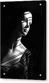 Acrylic Print featuring the photograph Dramatic Lucy In Black And White by Nareeta Martin