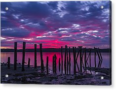 Dramatic Maine Sunrise Acrylic Print