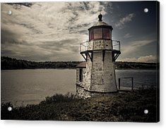 Dramatic Mid-day Shot Of Squirrel Point Acrylic Print