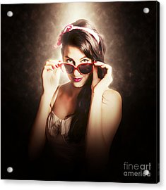 Dramatic Pin Up Fashion Photograph Acrylic Print by Jorgo Photography - Wall Art Gallery