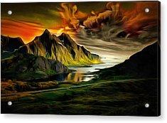 Dramatic Skies Acrylic Print by Mario Carini