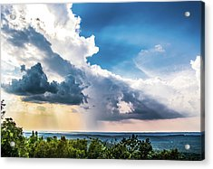 Acrylic Print featuring the photograph Dramatic Sunrays Over The Valley by Shelby Young