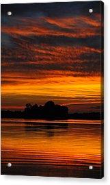 Dramatic Sunset Acrylic Print by M James McAdams
