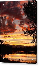 Dramatic Sunset Reflection Acrylic Print by James BO  Insogna