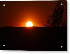 Dramatic Sunset View From Mount Tom Acrylic Print