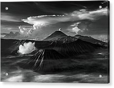 Dramatic View Of Mount Bromo Acrylic Print