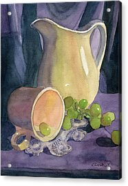 Drapes And Grapes Acrylic Print