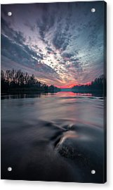 Acrylic Print featuring the photograph Drava by Davorin Mance