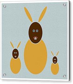 Rabbit Rabbit Rabbit Acrylic Print by Frank Tschakert