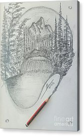 Drawing A Masterpiece  Acrylic Print by Collin A Clarke