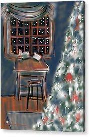 Drawing Board At Christmas Acrylic Print