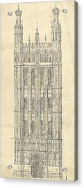 Drawing For The Houses Of Parliament Acrylic Print