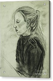 Drawing Of An Artist Acrylic Print