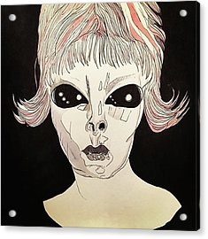 She Came From Planet Claire Acrylic Print