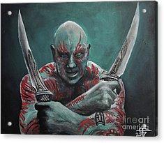 Drax The Destroyer Acrylic Print by Tom Carlton