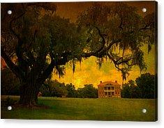 Drayton Hall Plantation In Charleston Acrylic Print