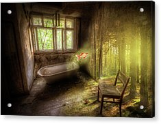Acrylic Print featuring the digital art Dream Bathtime by Nathan Wright