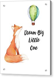 Acrylic Print featuring the digital art Dream Big Little One by Colleen Taylor