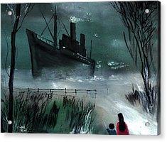 Dream Boat Acrylic Print by Anil Nene