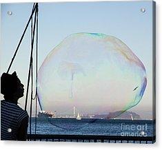 Dream Bubble  Acrylic Print by Juan Romagosa