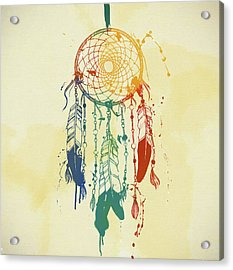 Dream Catcher Watercolor Acrylic Print