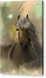 Acrylic Print featuring the digital art Dream Horse by Darren Cannell